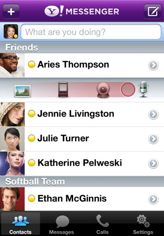 Yahoo! Messenger 2.0 Screenshot