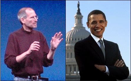 Steve Jobs and President Barack Obama