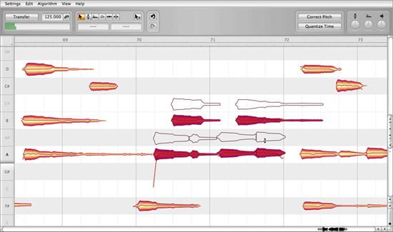 Melodyne Screnshot