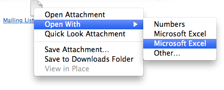 Finder contextual menu