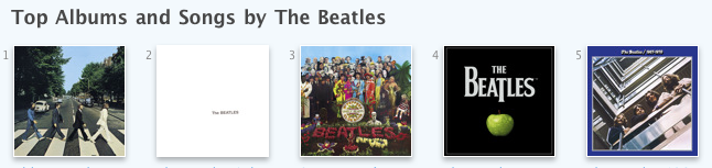 Beatles top Five Albums
