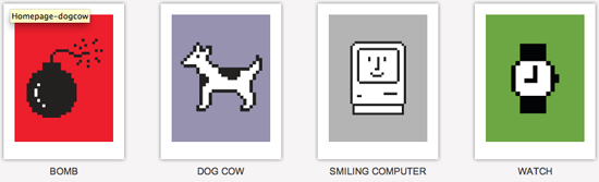 Four Icons from Susan Kare's Collection