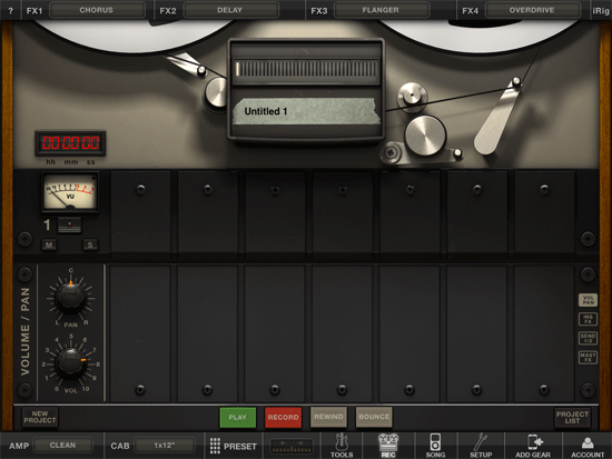 Amplitube for iPad 2 Screenshot