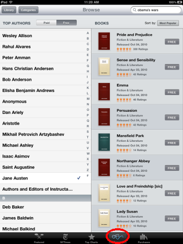 Downloaded book on ipad where is it
