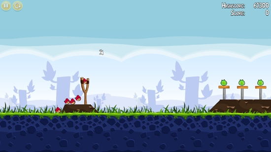 Angry Birds for the Mac Screenshot