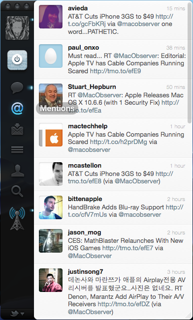 Twitter for Mac Screenshot