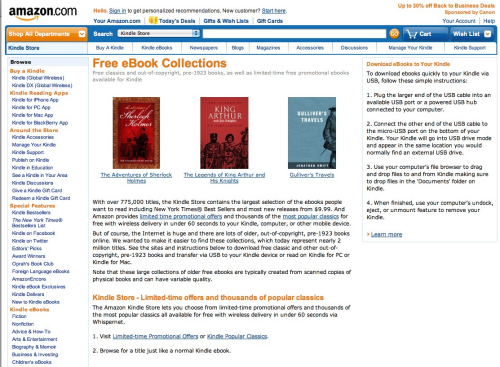 Amazon free books collection