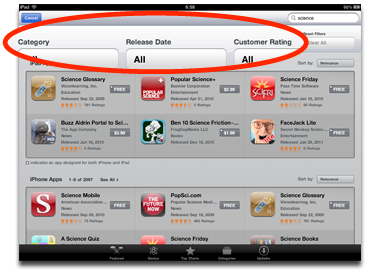 Apple Adds Search Filters to iPad App Store – The Mac Observer