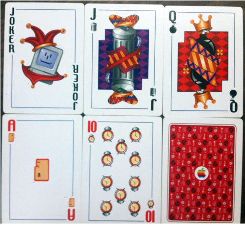 Mac OS 7 Apple Playing Cards