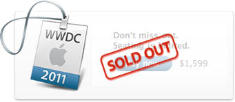 WWDC 2011 Sold Out