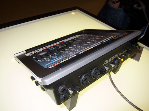 Alesis' iO Dock with iPad (mockup) in place