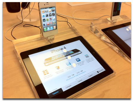 iPad kiosk and iPhone