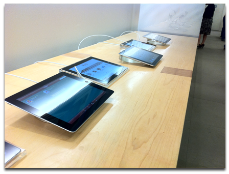 iPad kiosks for iPads. How meta!