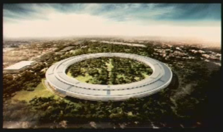Artist's rendition of Apple's proposed campus