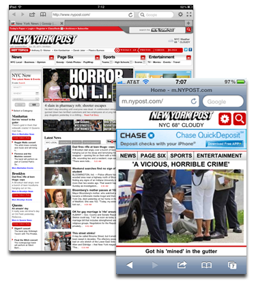 New York Post: Other browsers are OK