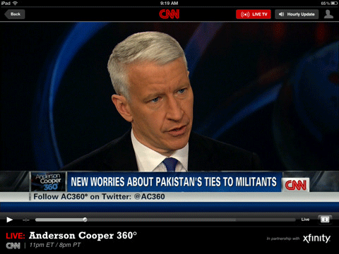 Anderson Cooper Streaming on iPad
