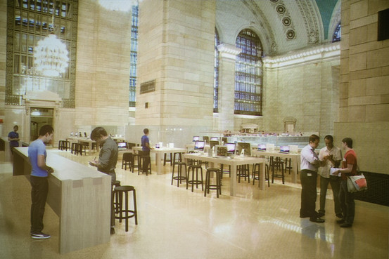 Rendering of Apple Store in Grand Central Station