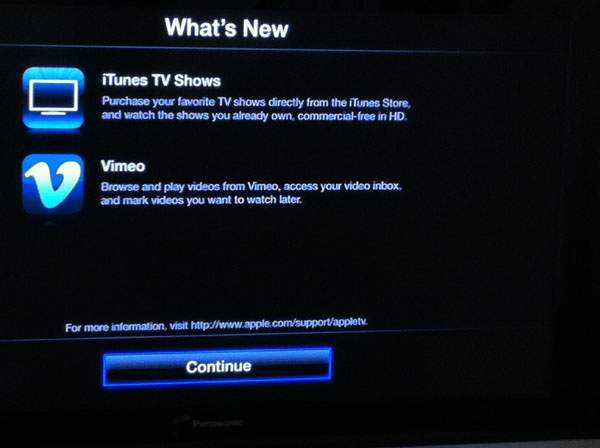Apple TV Update Screenshot