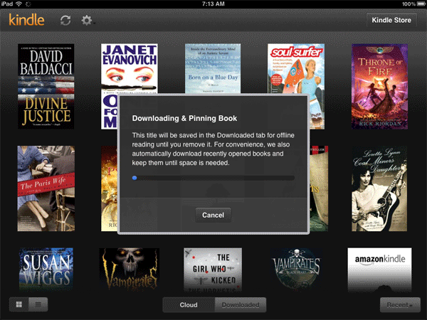 Kindle Cloud Reader Downloading & Pinning a book to your iPad