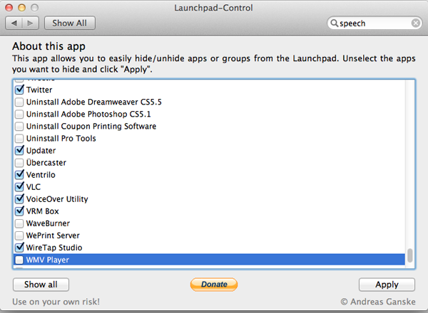 Launchpad Control Screenshot