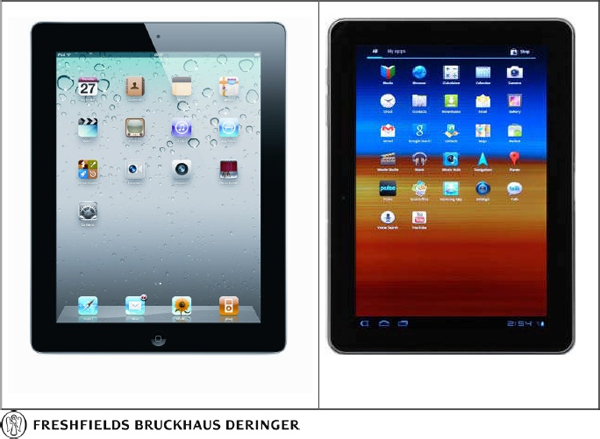 Side by Side Comparison of iPad & Galaxy Tab 10.1 as Filed by Apple in German Court