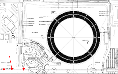 Apple Campus Arch. Drawing