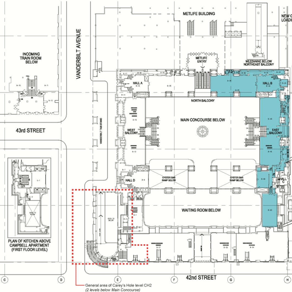 Floor plan for Apple's Grand Central Terminal Apple Store