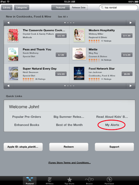 iBooks - bottom