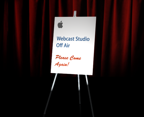 Webcast Studio Off Air