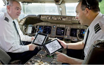 iPad in cockpit