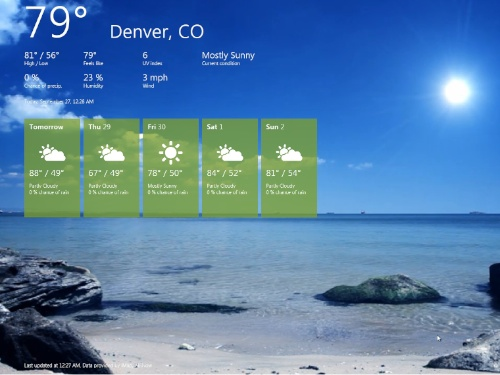 Win 8 weather