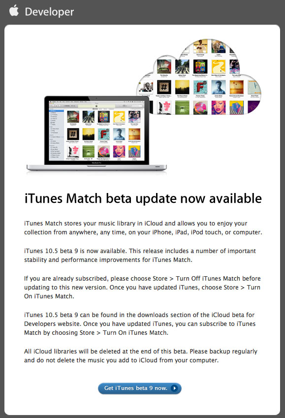 iTune Match Beta 9