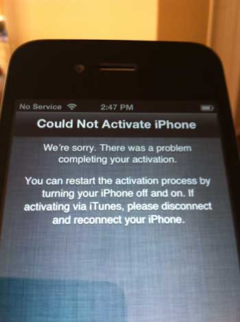 iPhone 4S Activation Woes