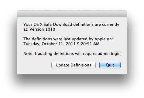 OS X Safe Download Versions