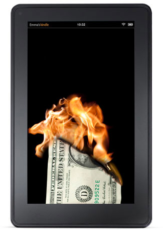 """Gives a new meaning to """"Kindle Fire"""""""