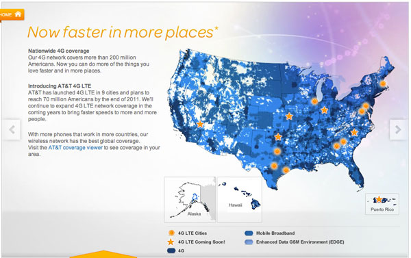 AT&T 4G Coverage Map