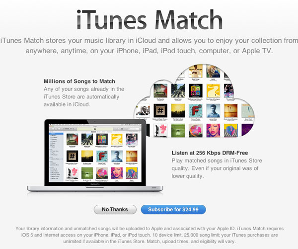 iTunes Match Introductory Offer