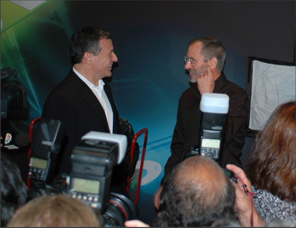 Bob Iger & Steve Jobs After Apple's