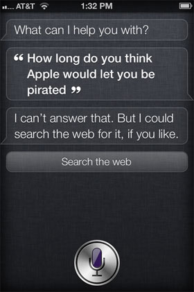 How Long Would Apple Let Siri Be Pirated?