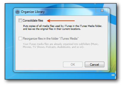 Consolidate iTunes Library