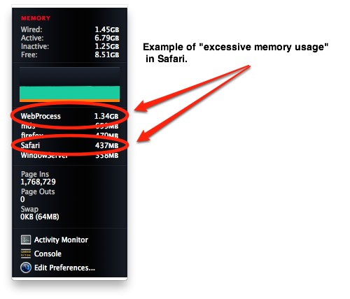 Safari's Excessive Memory Usage