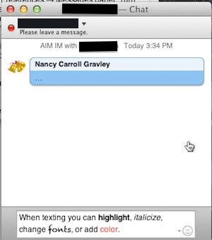 iChat Screen One