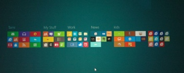 "Microsoft's own ""sea of icons"" on Windows 8"