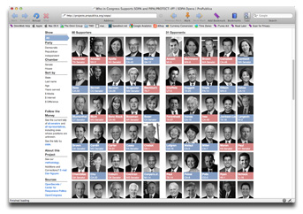 ProPublica is tracking which legislators support SOPA and PIPA