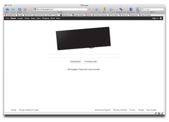 Google's logo leads to an anti-SOPA page