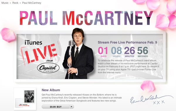 Paul McCartney on iTunes