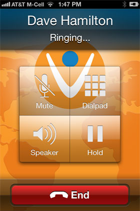 Vonage Mobile Screenshot