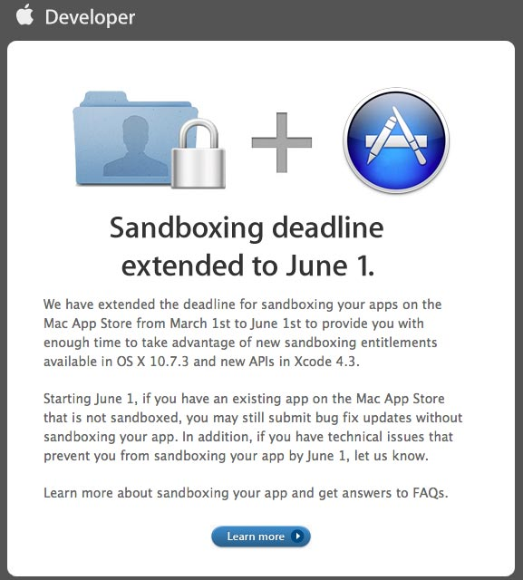 Sandboxing Deadline Extension