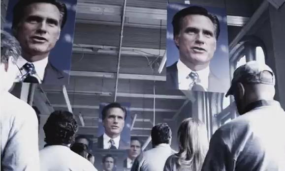 Screen from Rick Santorum Ad