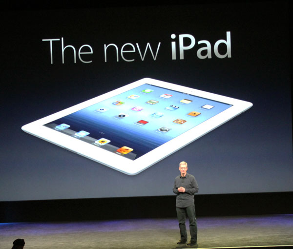 Tim Cook & Apple's New iPad